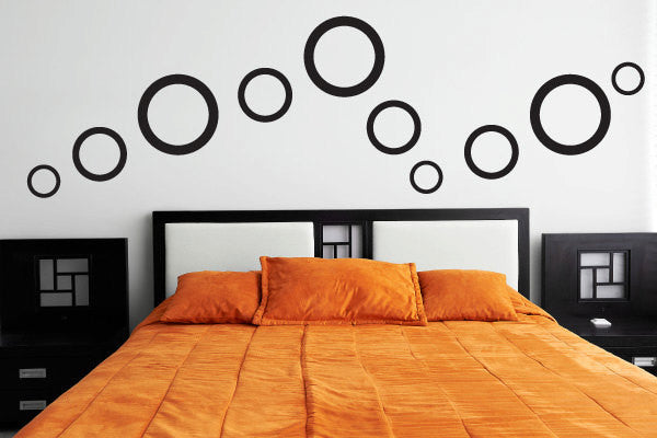 Circle Dots Vinyl Wall Decal Sticker Graphic  - 1