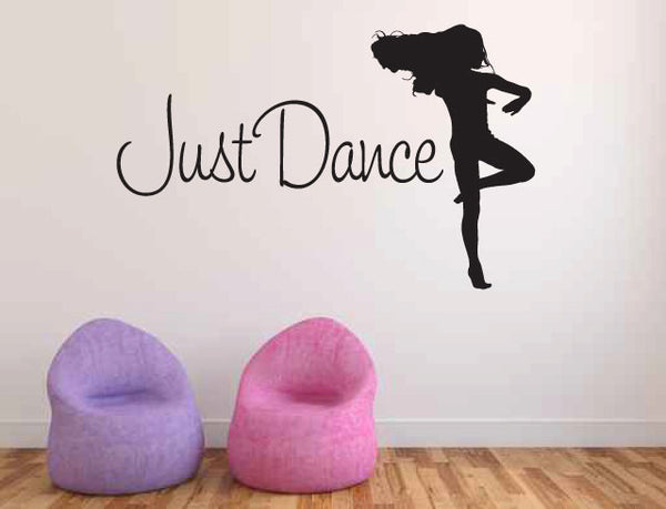 Just Dance Vinyl Wall Words Decal Sticker Graphic  - 1