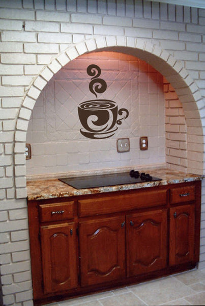Coffee Cup Vinyl Wall Decal Sticker Graphic  - 1