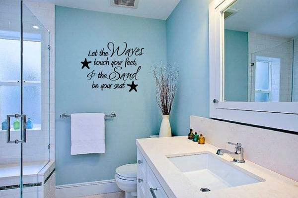 Let the Waves Touch Your Feet and the Sand Be Your Seat Vinyl Wall Words Decal Sticker Graphic  - 1