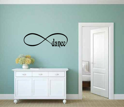 Infinity Sign Symbol Dance Vinyl Wall Words Decal Sticker Graphic  - 1