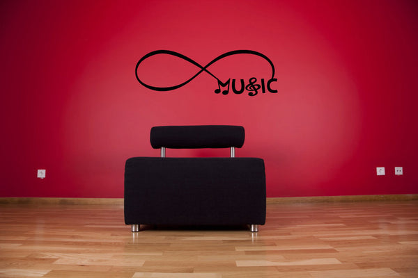 Infinity Sign Symbol Music and Notes Vinyl Wall Words Decal Sticker Graphic  - 1