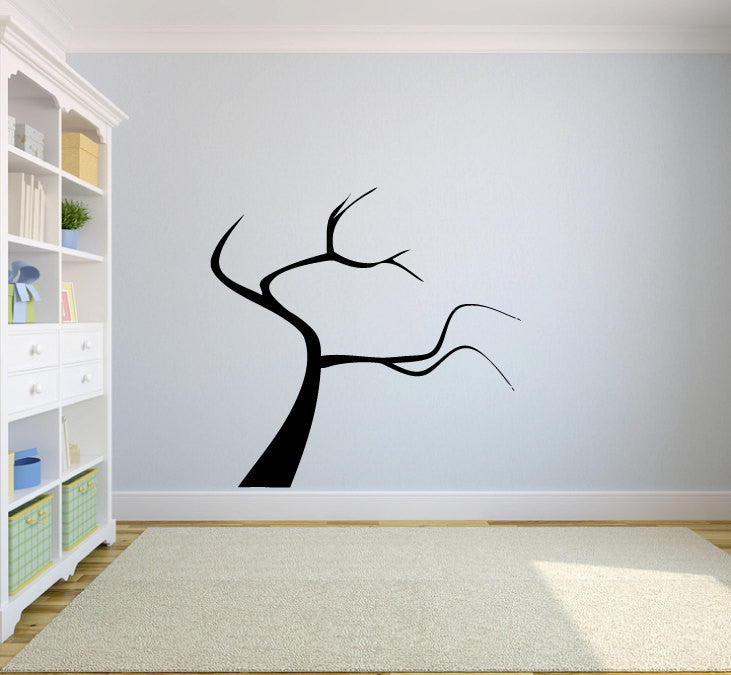 Tree Silhouette Perfect for adding Family Photos Vinyl Wall Words Decal Sticker Graphic  - 1