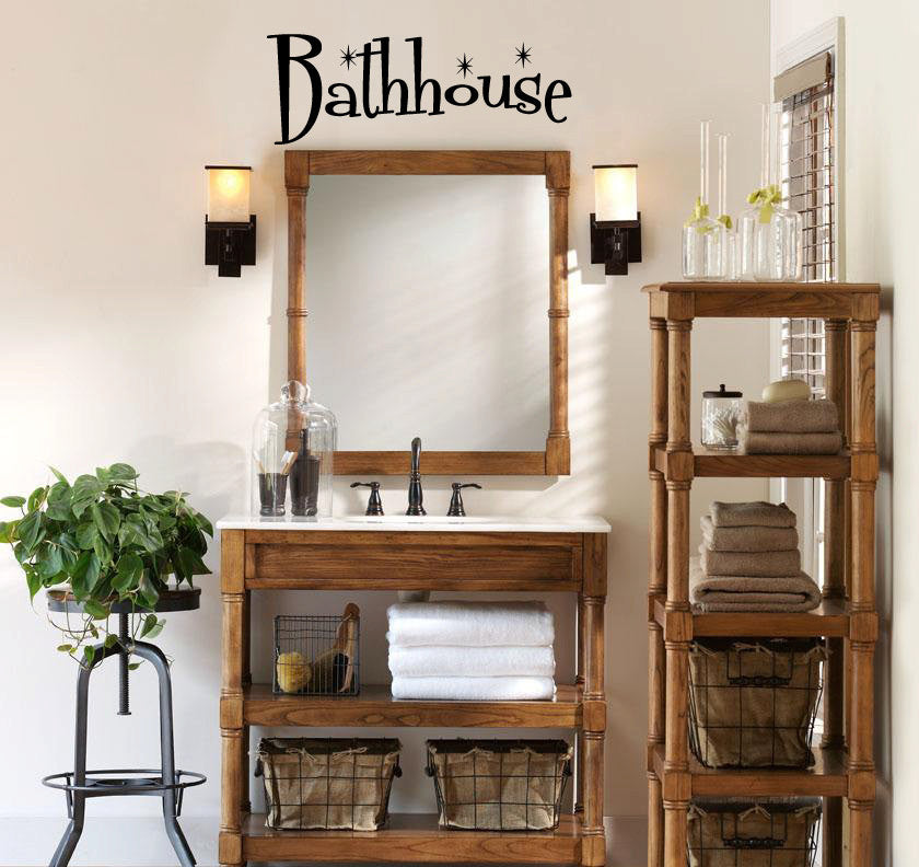Bathhouse Wall Words Decal Sticker Graphic - Wall Decal