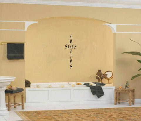 Amazing Grace Wall Words Decal Sticker Graphic - Wall Decal
