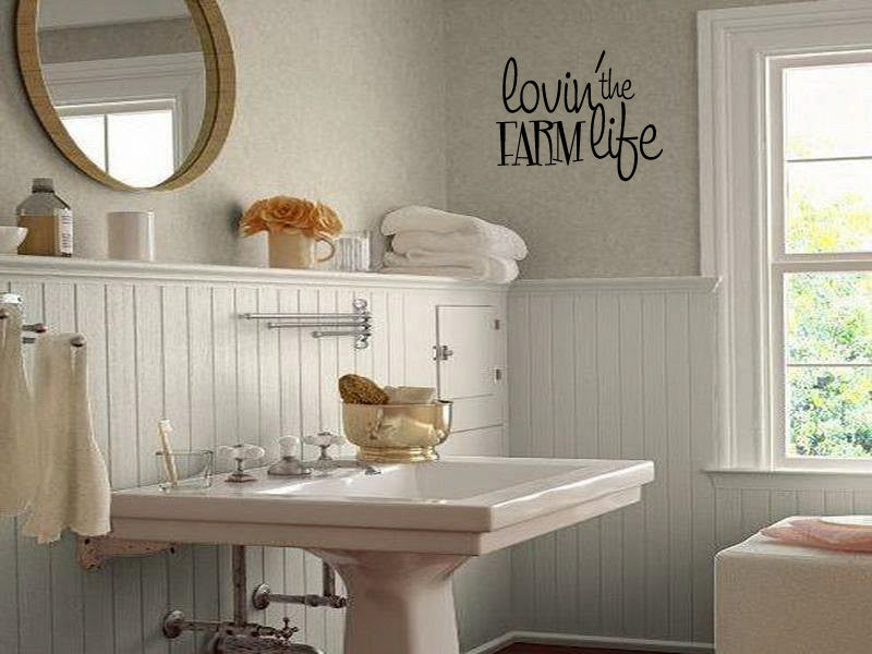 Lovin the Farm Life Vinyl Wall Words Decal Sticker Graphic  - 1