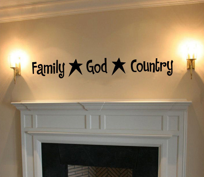 Family God Country Vinyl Wall Words Decal Sticker Graphic  - 1
