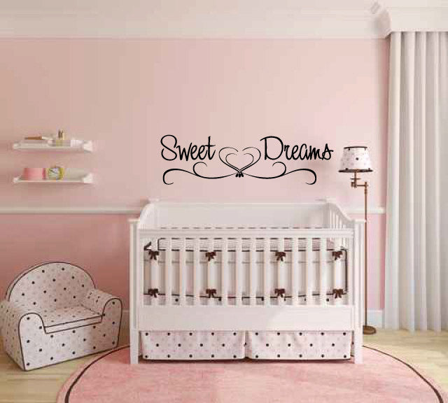 Sweet Dreams Vinyl Wall Words Decal Sticker Graphic  - 1