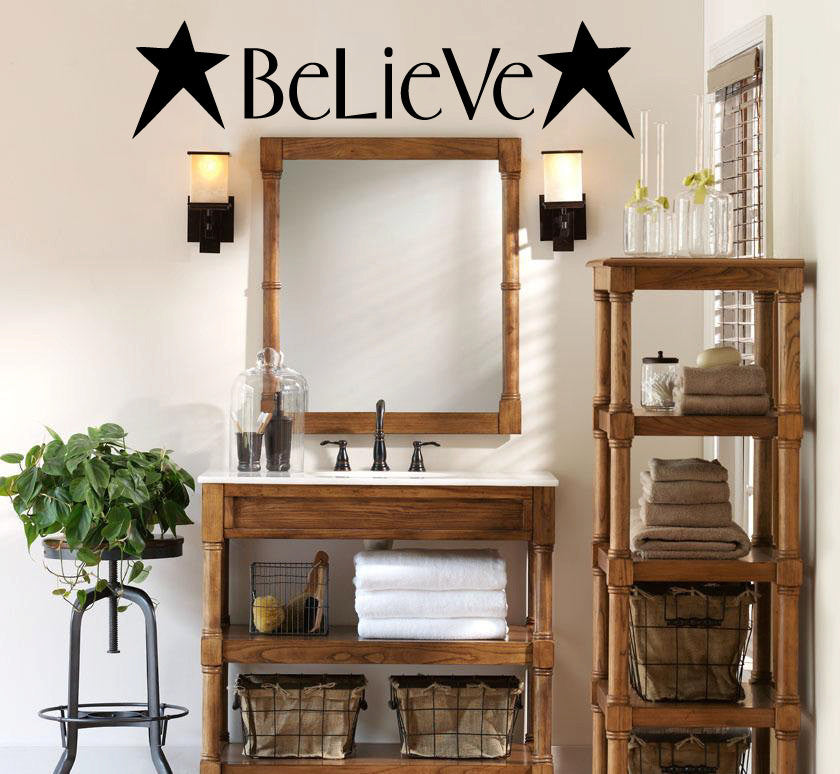 Believe Vinyl Wall Words Decal Sticker Graphic  - 1