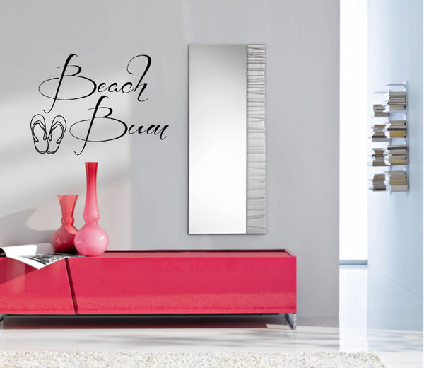 Beach Bum Vinyl Wall Words Decal Sticker Graphic - Wall Decal