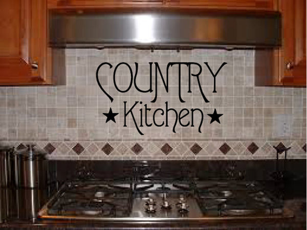Country Kitchen Vinyl Wall Words Decal Sticker Graphic  - 1