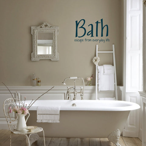 bath escape from everyday life vinyl wall words decal sticker graphic wall decal
