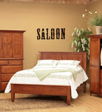 Saloon Vinyl Wall Words Decal Sticker Graphic  - 1