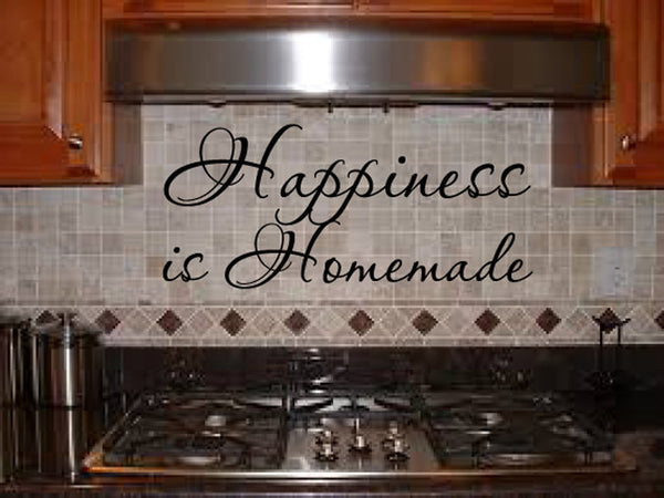 Happiness is Homemade Vinyl Wall Words Decal Sticker Graphic  - 1