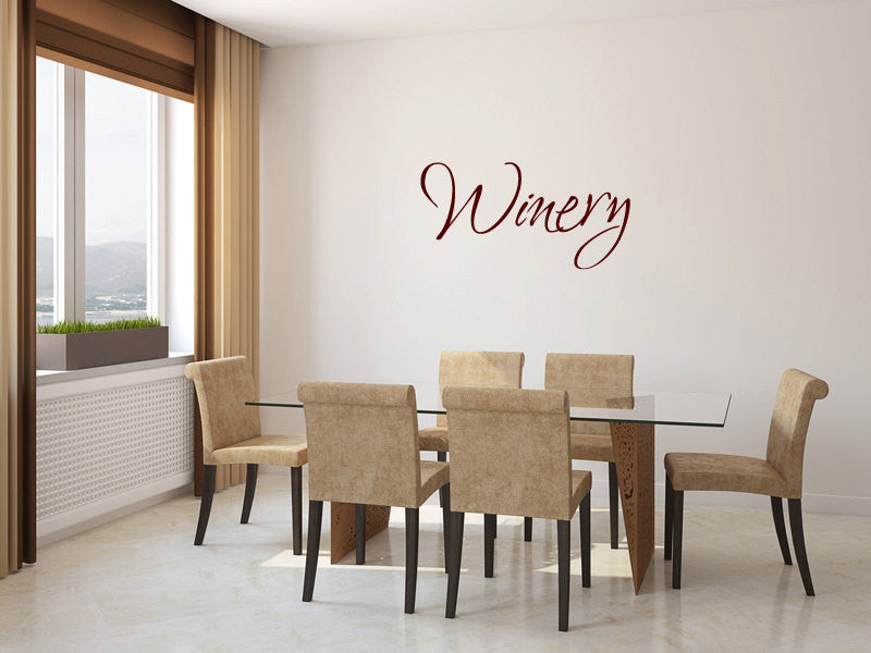 Winery Vinyl Wall Words Decal Sticker Graphic  - 1