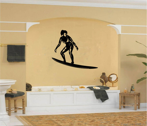 Surfer Girl Vinyl Wall Decal Sticker Graphic  - 1
