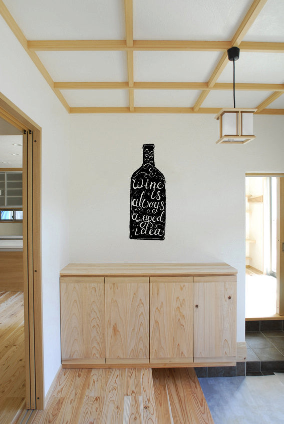 Wine is Always A Good Idea Vinyl Wall Words Decal Sticker Graphic  - 1