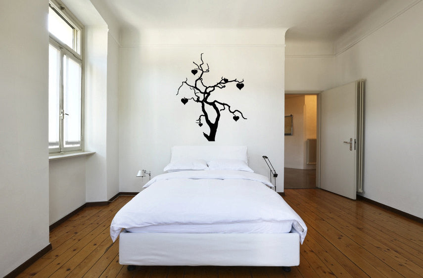 Tree Branches and Hearts Vinyl Wall Words Decal Sticker Graphic  - 1
