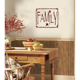 Primitive Rustic Twig Family Frame Vinyl Wall Words Decal Sticker Graphic  - 1