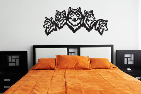 Wolves Silhouette Vinyl Wall Decal Sticker Graphic  - 1
