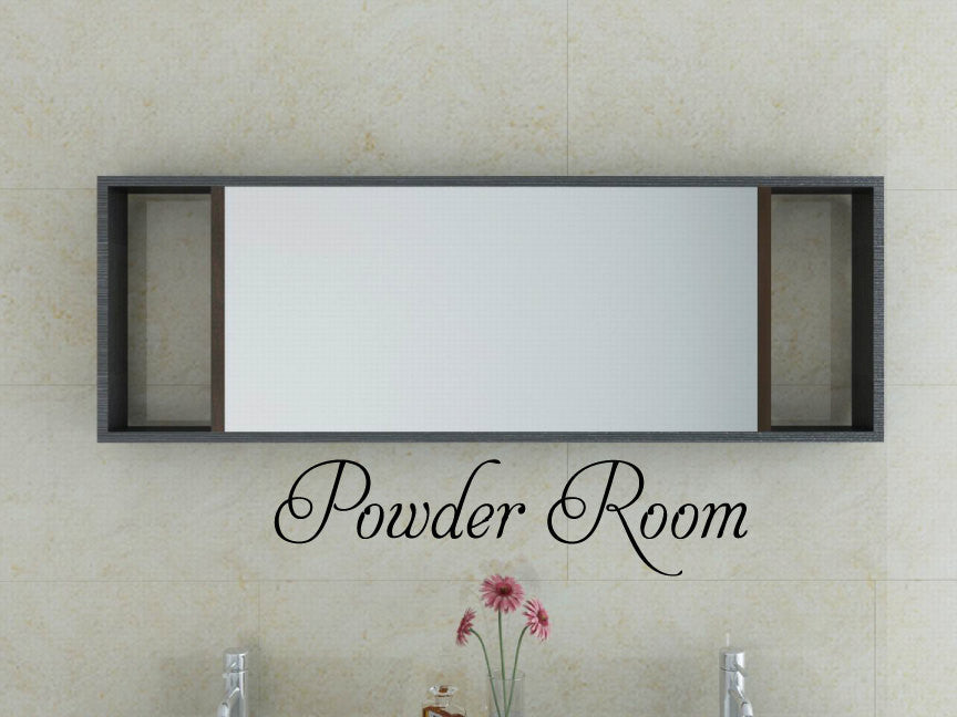 Powder Room Vinyl Wall Words Decal Sticker Graphic  - 1