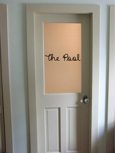 The Pool Vinyl Wall Words Decal Sticker Graphic  - 1