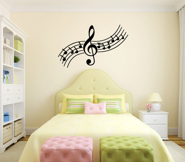 Music Notes Vinyl Wall Decal Sticker Graphic  - 1