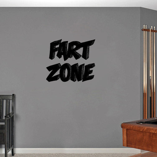 Fart Zone Vinyl Wall Decal Sticker Graphic  - 1