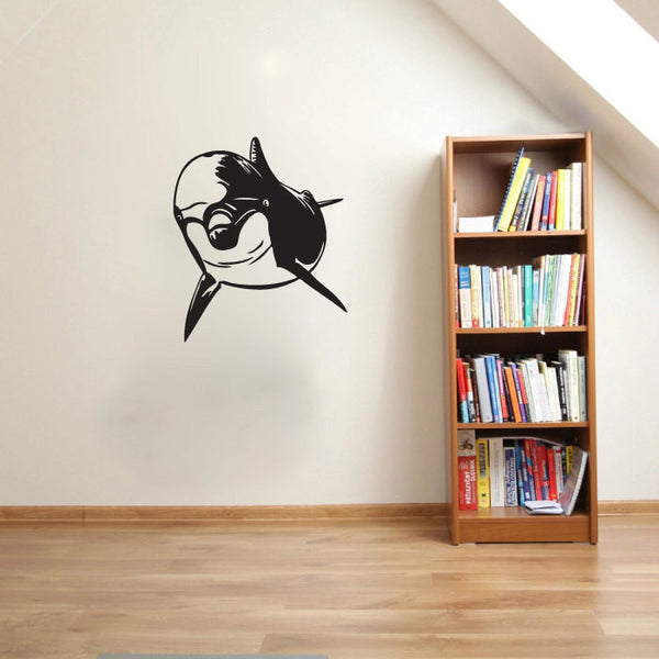 Dolphin Silhouette Vinyl Wall Decal Sticker Graphic  - 1