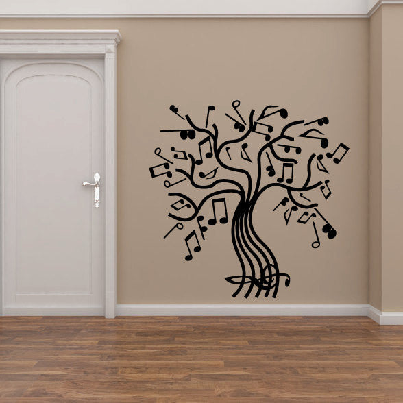 Music Notes Tree Vinyl Wall Decal Sticker Graphic  - 1