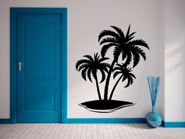 Palm Trees Silhouette Vinyl Wall Decal Sticker Graphic  - 1