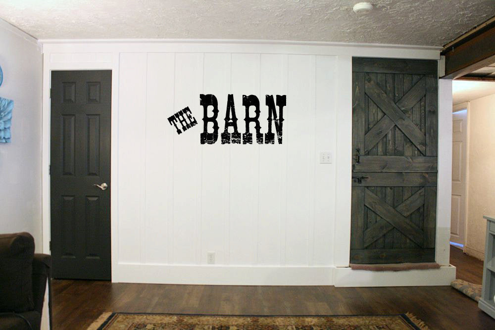 The Barn Vinyl Wall Words Decal Sticker Graphic  - 1