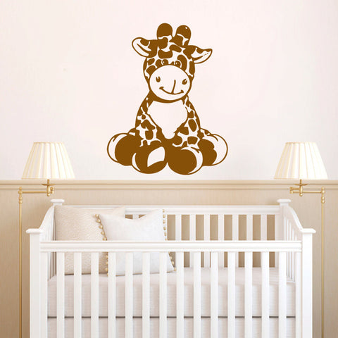 Giraffe Baby Vinyl Wall Decal Sticker Graphic  - 1