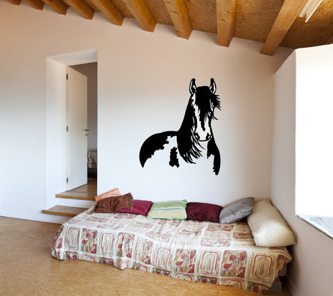 Horse Silhouette Vinyl Wall Decal Sticker Graphic - Oakwood Decals - 1