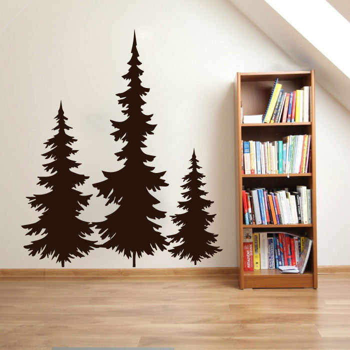 pine tree wall sticker decal