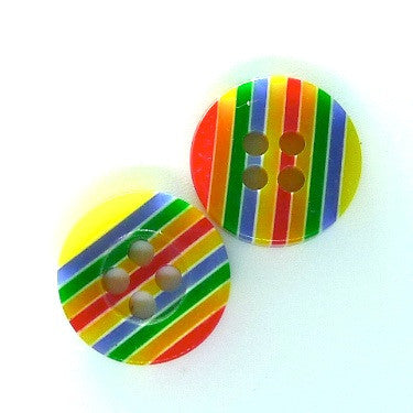 Rainbow Strips Sewing Buttons 4 holes (5-pack)