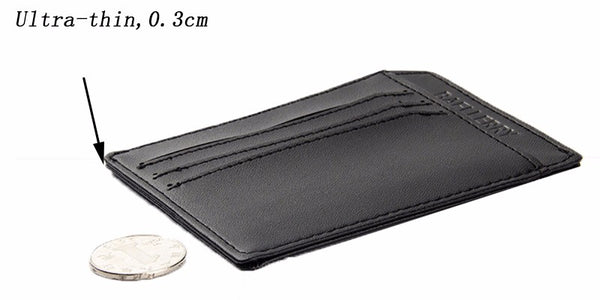 Men Slim Minimalist PU Light Weight Card Holder / Wallet