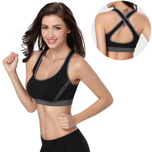 Athletic Vest Padded and Back Cross Sports Bra