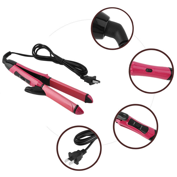 2 In 1 Hair Straightener Curler Automatic