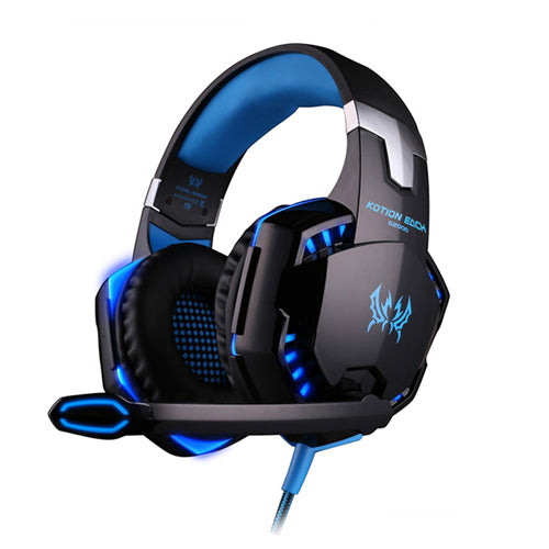 eSports Deep Bass Headphones G2000 with Mic LED Light for PC