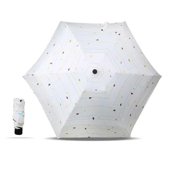 Mini Compact Folding Lightweight Travel Umbrella