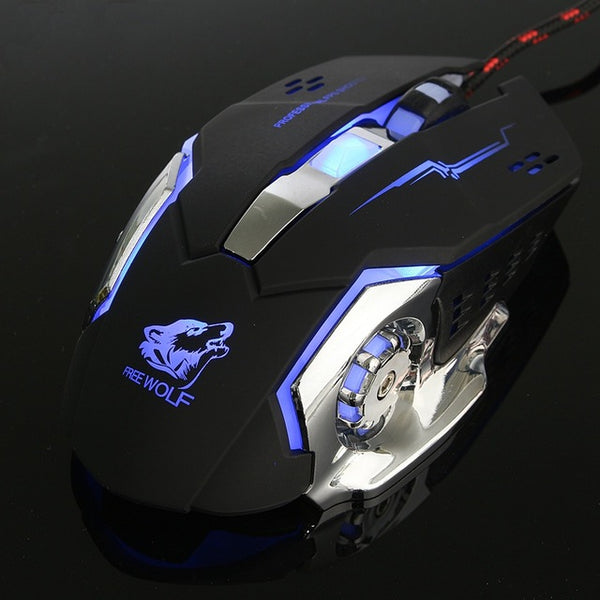 eSports 6 Button LED Optical Mouse Macro Programmable 4000DPI