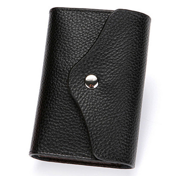 RFID Protection Leather Card Holder Wallet with Coin Pocket