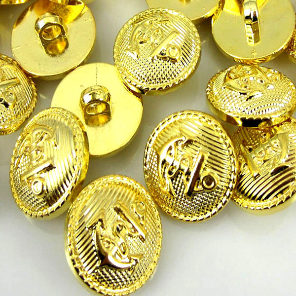 Nautical Gold Shank Buttons 30pc 18mm