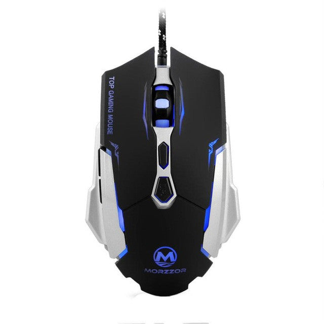 eSports LED Optical Gaming Mouse with 2400 DPI Adjustment Light and 7 Buttons