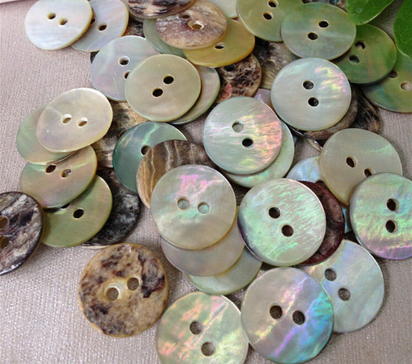 Shell Sewing Buttons 2 holes 144pieces 20mm