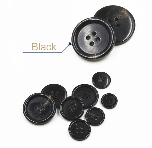 Horn Buttons in 4 Sizes : 15mm 18mm 20mm  25mm 11pc