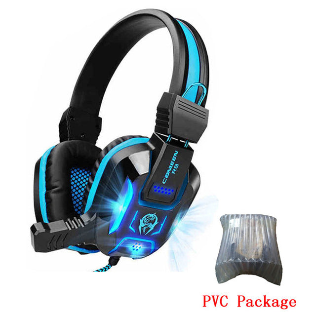 eSports Deep Bass LED Gaming Headphone Headset Over-Ear Earphone with Light for PS4 LOL PC Gamer