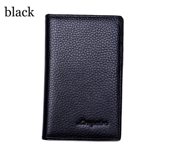 Slim Genuine Leathe rPocket Wallet with RFID Blocking