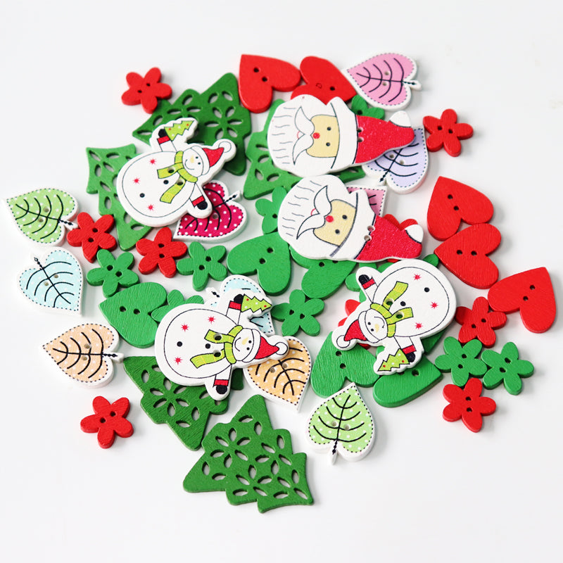 Christmas Mix Buttons (1) 50pc